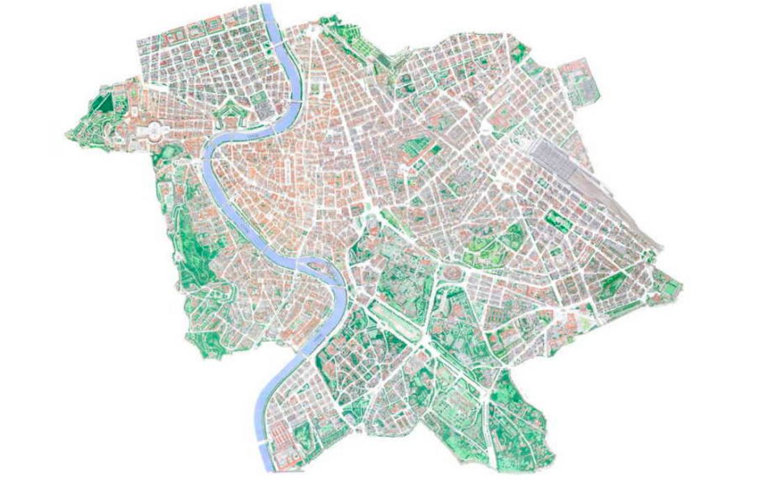 Roma Cartina Centro Storico.Roma Disegnata Le Mappe Illustrate Di Mario Camerini Studio Futuroma